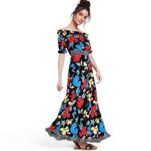 🌻NWT RIXO Floral Off Shoulder Floral Dress sz 16